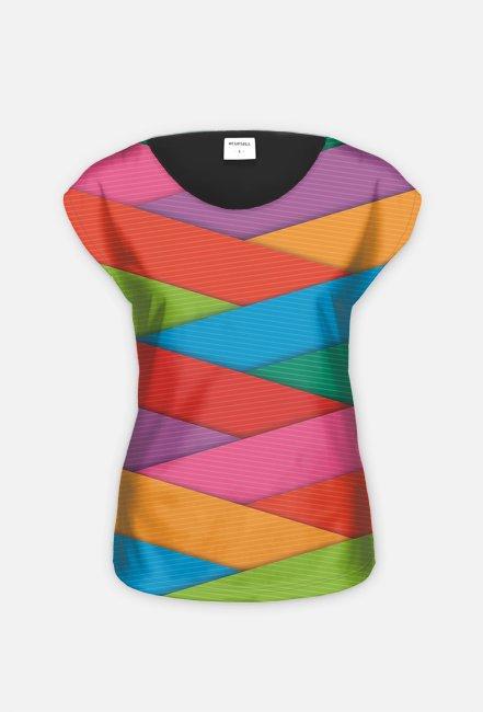 """koszulka  """" kolorowa przekładanka"""""""