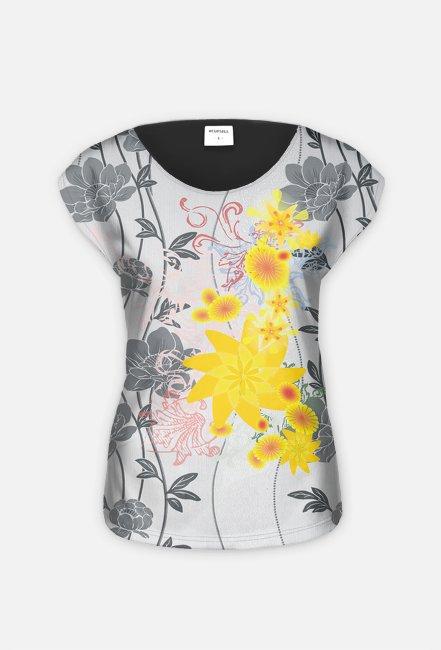 """koszulka  """" żółte kwiaty"""""""