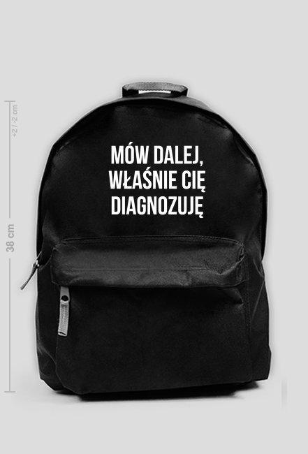 DIAGNOZA - plecak średni czarny