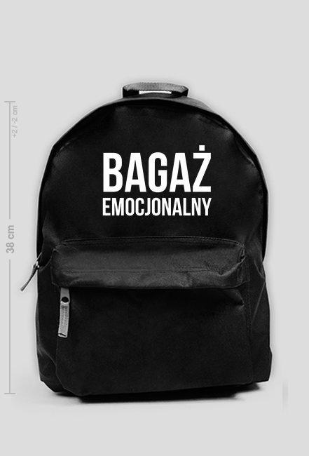 BAGAŻ EMOCJONALNY - plecak średni czarny