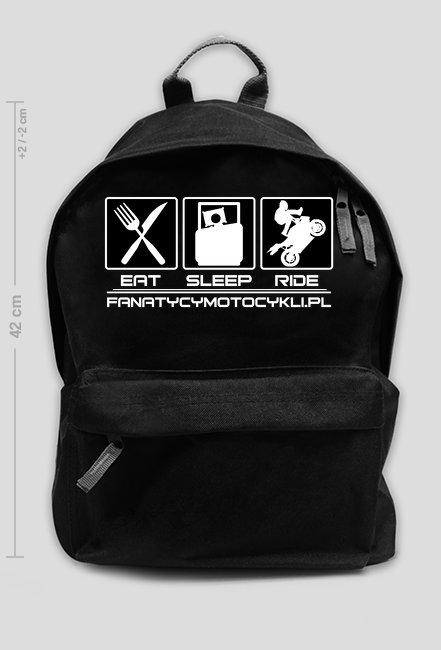 Eat sleep ride - plecak motocyklowy