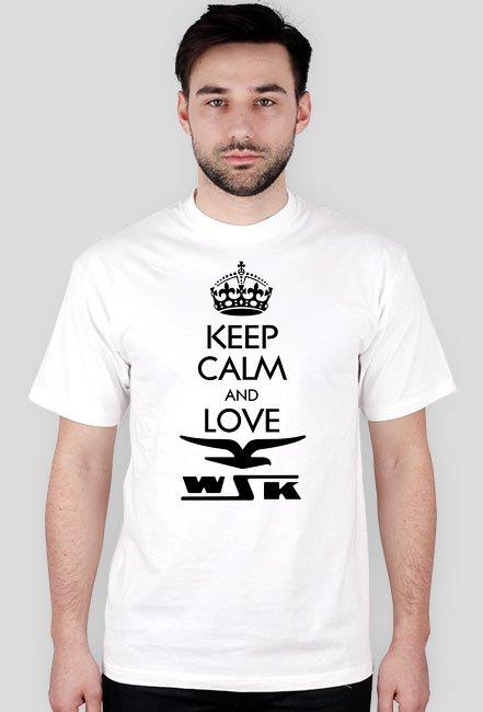 Keep calm and love WSK - koszulka motocyklowa męska
