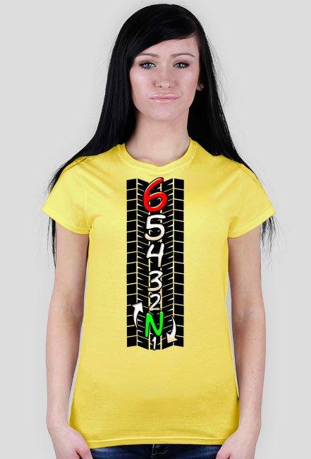 Skrzynia biegów track - damska koszulka motocyklowa