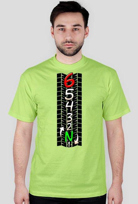 Skrzynia biegów track - męska koszulka motocyklowa