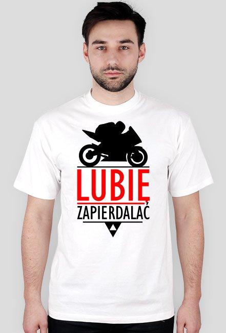 Lubię zapierdalać ścigacz 2 - męska koszulka motocyklowa