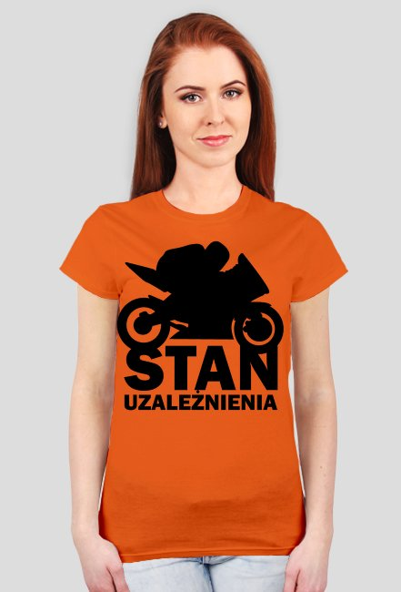 Stan uzależnienia - damska koszulka motocyklowa