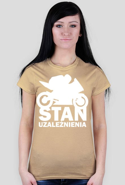 Stan uzależnienia black - damska koszulka motocyklowa