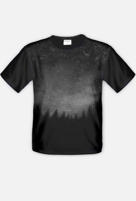 Czarny las, koszulka męska