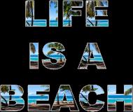 Life is a beach koszulka damska
