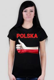 Koszulka patriotyczna Polska damska