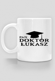 Kubek Pani Doktor z imieniem Łukasz