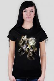 Koszulka z wilkami 2 - damska