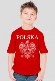 Polska z orzełkiem koszulka dziecięca