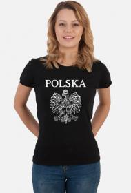 Koszulka Polska z orłem damska