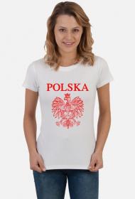Koszulka Polska z orzełkiem damska