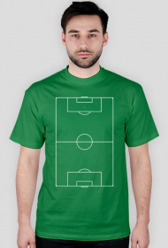 Koszulka z boiskiem do piłki nożnej pionowo