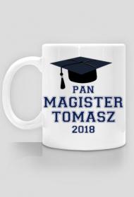 Kubek Pan Magister z imieniem i data