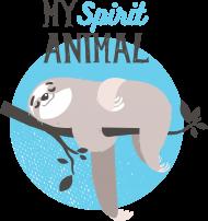 Koszulka z leniwcem damska My spirit animal
