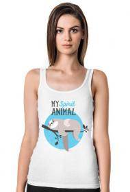 My spirit animal - leniwiec koszulka na ramiaczkach