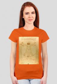Czlowiek witruwianski koszulka damska