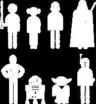 Postacie z Gwiezdnych wojen koszulka dziecięca