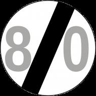 Prezent na 80 urodziny koszulka ze znakiem prędkości 80