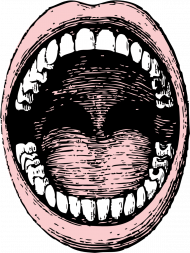 Maseczka z nadrukiem - usta