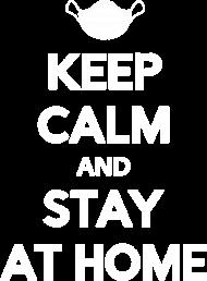 Keep calm and stay at home koszulka damska
