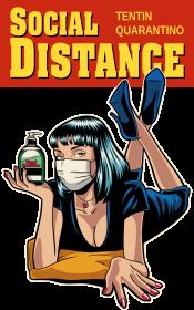 Pulp Fiction - Social Distance koszulka damska