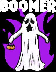 Boomer koszulka damska z duchem halloween