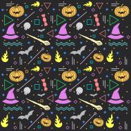 Halloween 2 maseczka lniana z filtrem