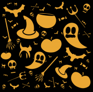 Halloween 3 maseczka lniana