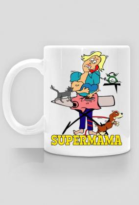 Supermama kubek prezent na Dzień Matki