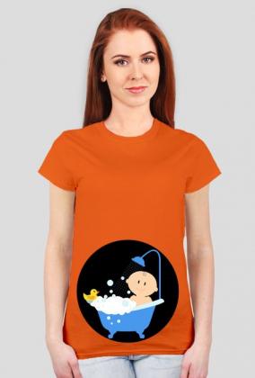 Koszulka dla kobiet w ciąży - bobas w kąpieli