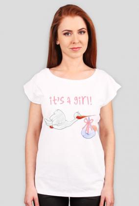 Koszulka dla przyszłej mamy dziewczynki - It's a girl