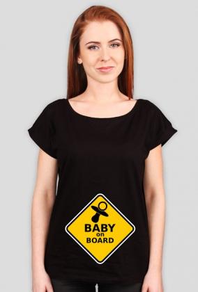 Koszulka Baby on board dla ciężarnej