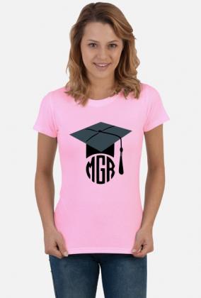 Prezent na obronę dla dziewczyny koszulka MGR