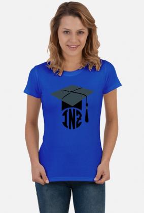 Prezent na obrone inzyniera koszulka damska