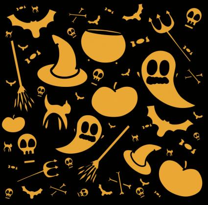 Maseczka wielorazowa halloween 3