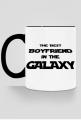 The Best Boyfriend in the galaxy kubek kolor