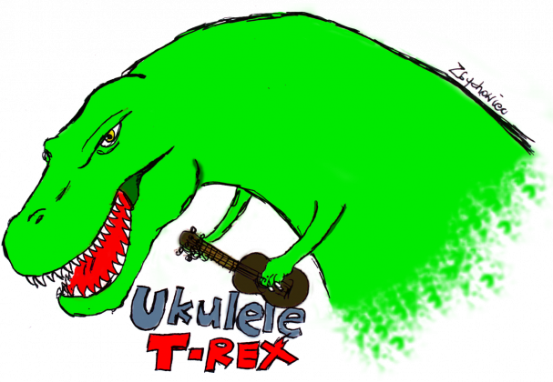 Ukulele T-Rex Maska