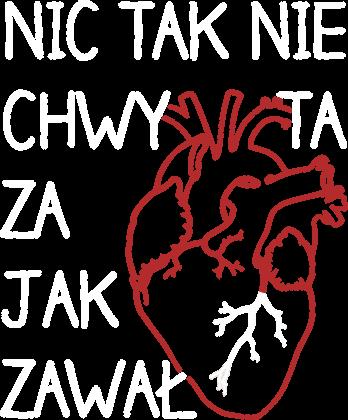 Zawal serca - koszulka meska 2