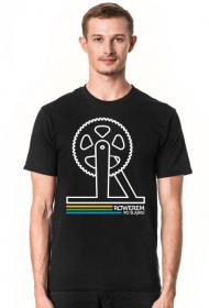 Rowerem Po Śląsku - koszulka męska czarna