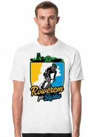Rowerem Po Śląsku - koszulka męska biała
