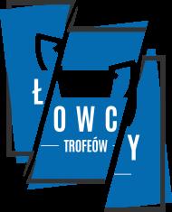Koszulka Łowcy - Cięte Logo Niebieskie