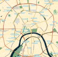 Koszulka z mapą Moskwy.