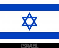 Koszulka z flagą Izraela.