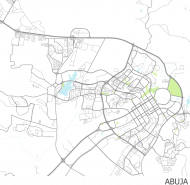 Koszulka z mapą Abudży.