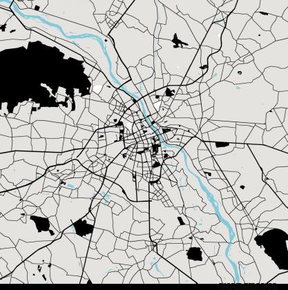 Koszulka z mapą Warszawy
