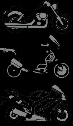 3 motorcykle koszulka damska
